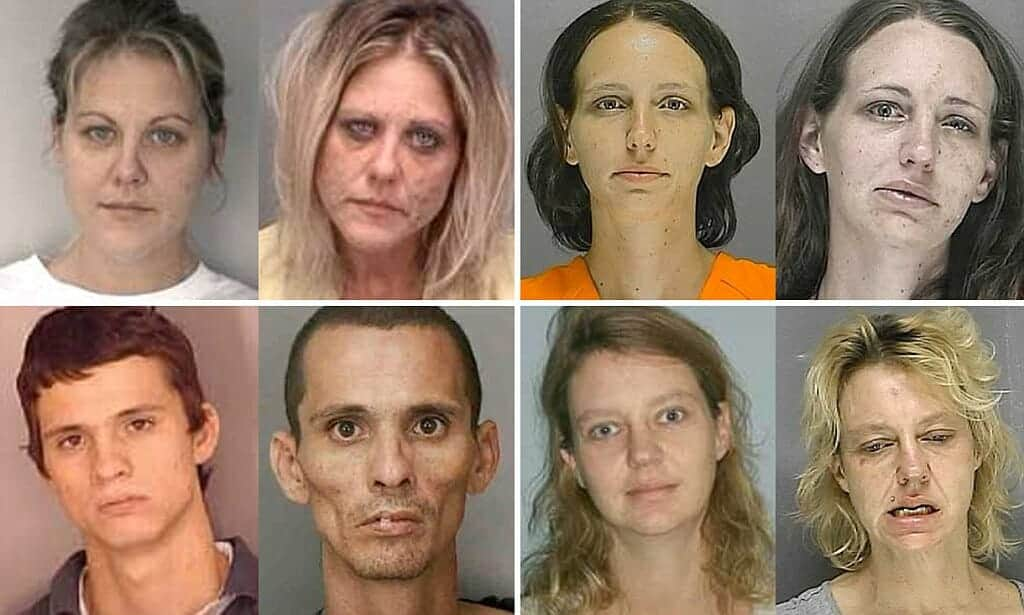 face changes with heroin use